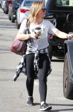 HILARY DUFF Heading to a Gym in Studio City 11/17/2017