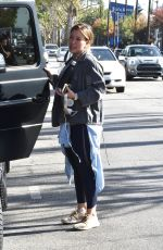 HILARY DUFF Heading to a Gym in Studio City 11/21/2017