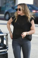 HILARY DUFF in Tight Jeans Out in Los Angeles 11/17/2017