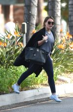 HILARY DUFF Leaves a Gym in Studio City 11/13/2017