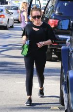 HILARY DUFF Leaves a Gym in Studio City 11/14/2017
