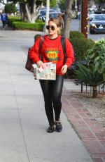 HILARY DUFF Out and About in West Hollywood 11/16/2017