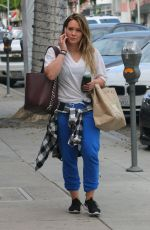 HILARY DUFF Out for Fresh Juice at Kreation in Hollywood 11/15/2017