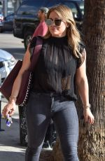 HILARY DUFF Out for Lunch in Studio City 11/17/2017