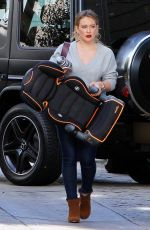 HILARY DUFF Out in Los Angeles 11/20/2017