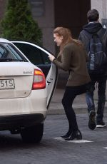 HOLLAND RODEN Leaves Her Hotel in Warsaw 11/25/2017