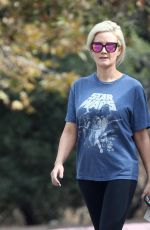HOLLY MADISON Out Hiking at Old LA Zoo in Los Angeles 11/03/2017