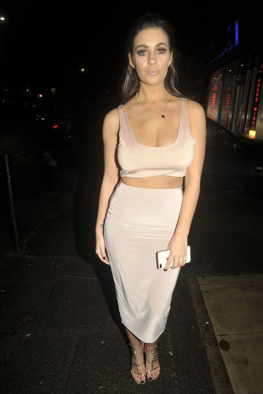 HOLLY PEERS Night Out in Manchester 11/28/2017