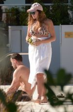 IMOGEN THOMAS in Bikini at a Pool in Miami 11/18/2017
