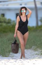 IMOGEN THOMAS in Swimsuit at a Beach in Miami 11/24/2017