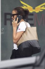 IRINA SHAYK Arrives at a Gym in Los Angeles 10/30/2017