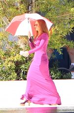 ISLA FISHER on the Set of The Beach Bum in Miami 11/09/2017