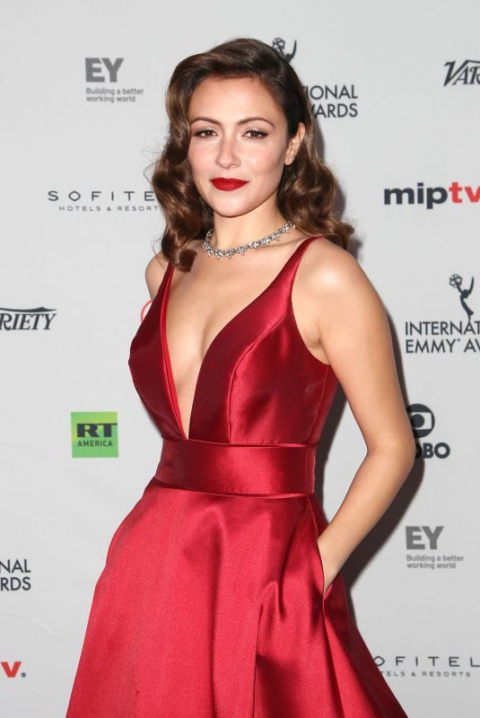 ITALIA RICCI at 45th International Emmy Awards in New York 11/20/2017