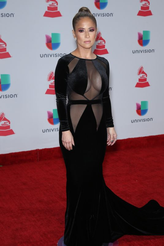 JACKIE GUERRIDO at Latin Grammy Awards 2017 in Las Vegas 11/16/2017
