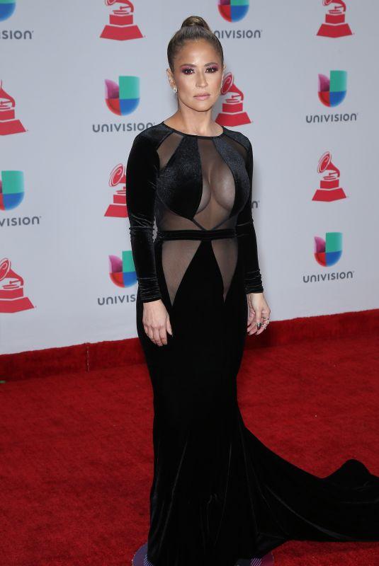 JACKIE GUERRIDO at Latin Grammy Awards 2017 in Las Vegas 11/16/2017