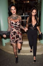 JEMMA LUCY and YAZMIN OUKHELLOU Leaves San Carlo Restaurant in Manchester 11/12/2017