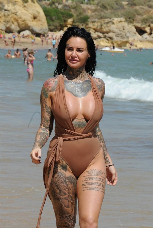 JEMMA LUCY in Swimsuit at a Beach in Lanzarote 11/13/2017