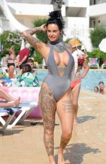 JEMMA LUCY in Swimsuit at a Pool in Lanzarote 11/15/2017