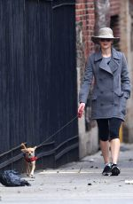 JENNIFER LAWRENCE Walks Her Dog Out in New York 11/22/2017