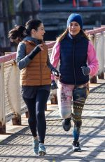 JENNIFER LOPEZ and VANESSA HUDGENS on the Set of Second Act in New York 11/27/2017
