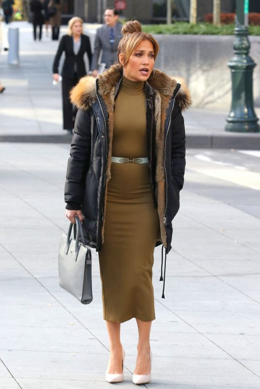 JENNIFER LOPEZ on the Set of Second Act in New York 11/28/2017