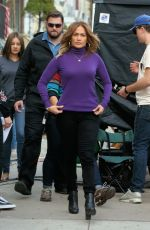 JENNIFER LOPEZ on the Set of Second Act in Queens in New York 11/03/2017