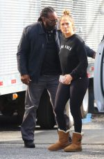 JENNIFER LOPEZ on the Set of Shades of Blue in New York 11/03/2017
