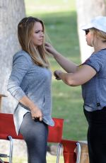 JESSICA BARTH on the Set of Her New Movie in Los Angeles 11/21/2017