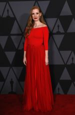 JESSICA CHASTAIN at AMPAS 9th Annual Governors Awards in Hollywood 11/11/2017