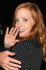 JESSICA CHASTAIN at Catch LA in West Hollywood 11/05/2017