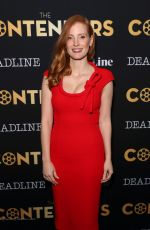 JESSICA CHASTAIN at Deadline Hollywood Presents The Contenders 2017 in Los Angeles 11/04/2017