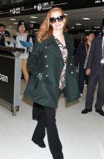 JESSICA CHASTAIN at Narita International Airport 11/26/2017