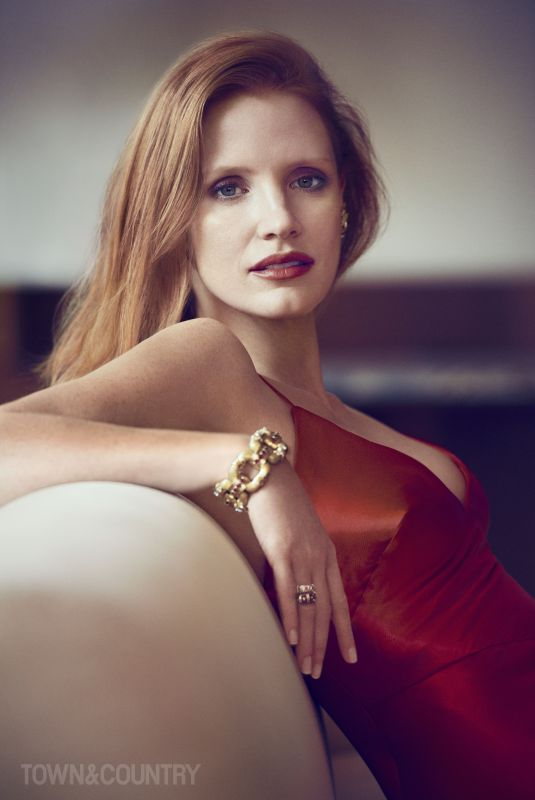 JESSICA CHASTAIN for Town & Country Magazine, December 2017