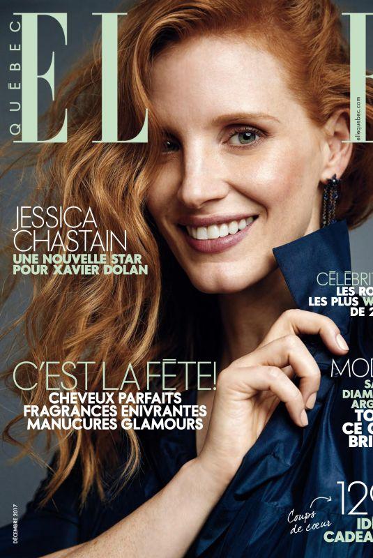 JESSICA CHASTAIN in Elle Magazine, Quebec December 2017
