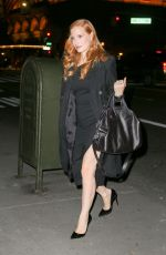 JESSICA CHASTAIN Leaves Tonight Show Starring Jimmy Fallon in New York 11/17/2017
