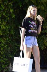 JESSICA HART in Denim Shorts Out in Los Angeles 11/10/2017