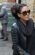 JESSIE WALLACE Arrives at Richmond Theatre in London 11/15/2017