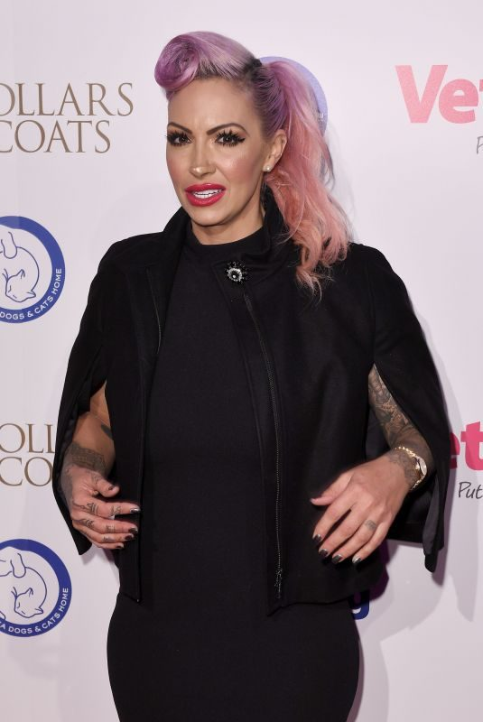 JODIE MARSH at Collars & Coats Gala Ball in London 11/02/2017