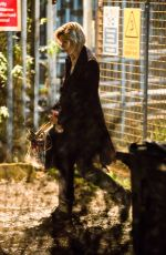 JODIE WHITTAKER on tehe Set of For the First Time in Sheffield 11/22/2017