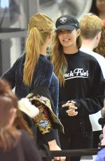 JOSEPHINE SKRIVER and ROMEE STRIJD at LAX Airport in Los Angeles 11/08/2017