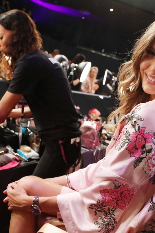 JOSEPHINE SKRIVER on the Backstage at 2017 VS Fashion Show in Shanghai 11/20/2017