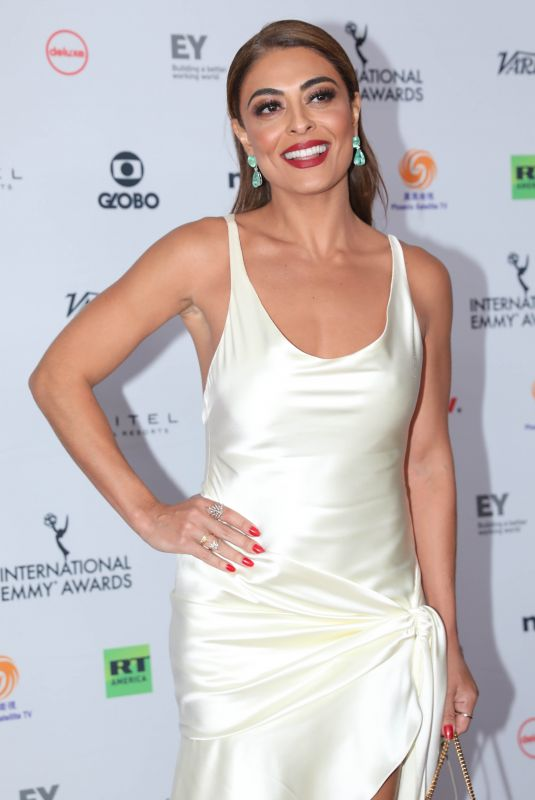 JULIANA PAES at 2017 International Emmy Awards in New York 11/20/2017