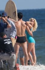 JULIANNE HOUGH in Swimsuit on the Set of Bigger in Orange Beach 11/13/2017