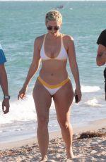 JULIEANNA YESJULZ GODDARD in Bikini on the Beach in Miami 11/26/2017