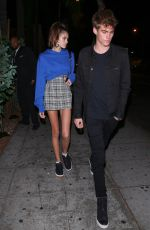 KAIA GERBER Night Out in West Hollywood 11/17/2017