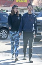 KAIA GERBER Out with a Friend in Malibu 11/27/2017