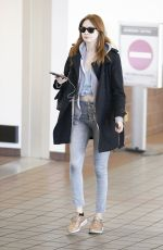KAREN GILLAN at LAX Airport in Los Angeles 11/23/2017