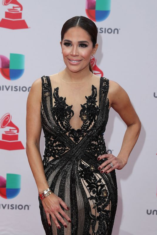 KARLA MARTINEZ at Latin Grammy Awards 2017 in Las Vegas 11/16/2017