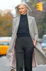 KARLIE KLOSS Out and About in New York 11/15/2017