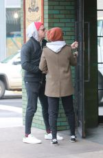 KATE MARA and Jamie Bell Out for Coffee in New York 11/14/2017